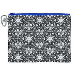 Star Crystal Black White 1 And 2 Canvas Cosmetic Bag (xxl) by Cveti