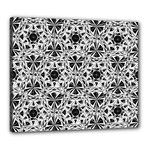 Star Crystal Black White 1 And 2 Canvas 24  X 20  by Cveti