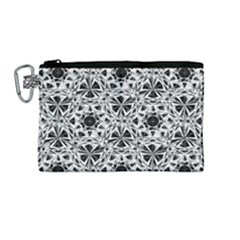 Star Crystal Black White 1 And 2 Canvas Cosmetic Bag (medium) by Cveti