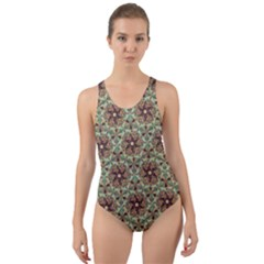 Crystal Star 1  Cut Out Back One Piece Swimsuit by Cveti