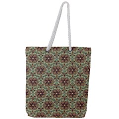 Crystal Star 1  Full Print Rope Handle Tote (large) by Cveti