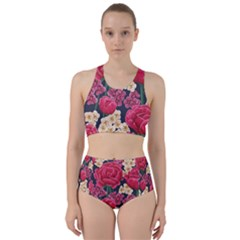 Pink Roses And Daisies Racer Back Bikini Set by allthingseveryday