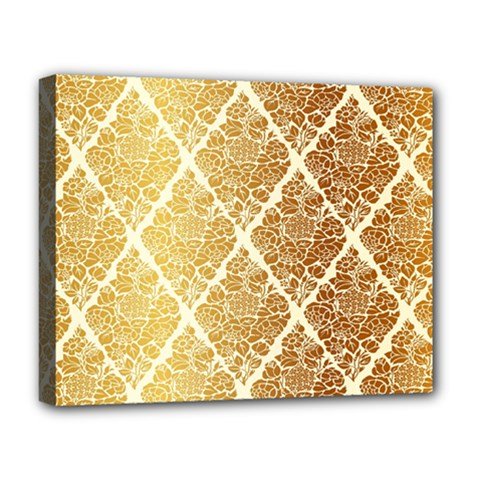 Vintage,gold,damask,floral,pattern,elegant,chic,beautiful,victorian,modern,trendy Deluxe Canvas 20  X 16   by 8fugoso