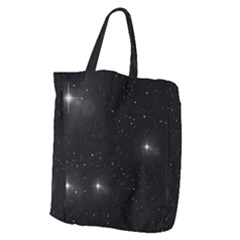 Starry Galaxy Night Black And White Stars Giant Grocery Zipper Tote by yoursparklingshop