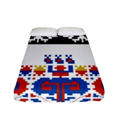 Bulgarian Folk Art Folk Art Fitted Sheet (full/ Double Size) by Celenk