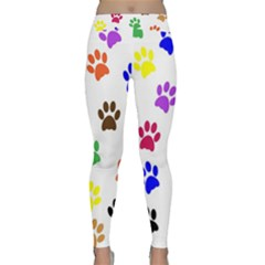 Pawprints Paw Prints Paw Animal Classic Yoga Leggings by Celenk