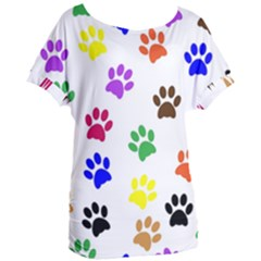 Pawprints Paw Prints Paw Animal Women s Oversized Tee by Celenk