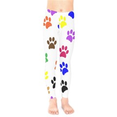 Pawprints Paw Prints Paw Animal Kids  Legging by Celenk