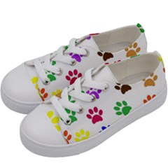 Pawprints Paw Prints Paw Animal Kids  Low Top Canvas Sneakers by Celenk