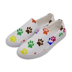 Pawprints Paw Prints Paw Animal Women s Canvas Slip Ons by Celenk