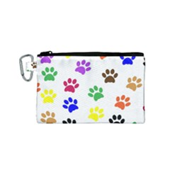 Pawprints Paw Prints Paw Animal Canvas Cosmetic Bag (small) by Celenk