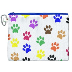Pawprints Paw Prints Paw Animal Canvas Cosmetic Bag (xxl) by Celenk