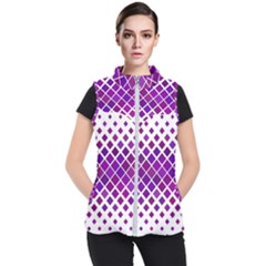 Pattern Square Purple Horizontal Women s Puffer Vest
