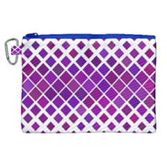 Pattern Square Purple Horizontal Canvas Cosmetic Bag (xl) by Celenk
