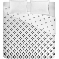 Star Pattern Decoration Geometric Duvet Cover Double Side (king Size) by Celenk