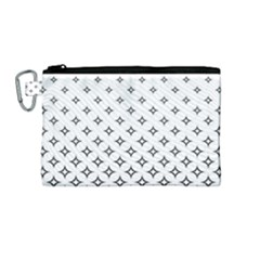 Star Pattern Decoration Geometric Canvas Cosmetic Bag (medium) by Celenk