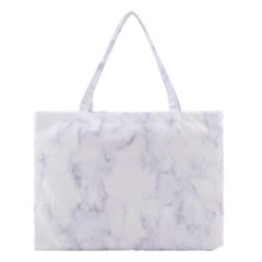 Marble Texture White Pattern Medium Tote Bag by Celenk