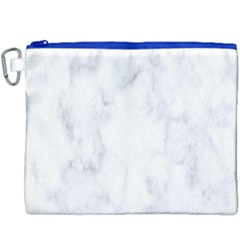 Marble Texture White Pattern Canvas Cosmetic Bag (xxxl) by Celenk