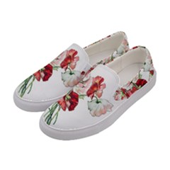 Flowers Poppies Poppy Vintage Women s Canvas Slip Ons by Celenk