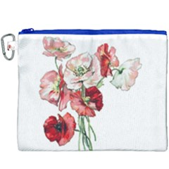 Flowers Poppies Poppy Vintage Canvas Cosmetic Bag (xxxl) by Celenk