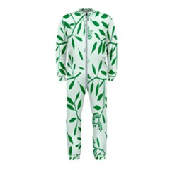Leaves Foliage Green Wallpaper Onepiece Jumpsuit (kids) by Celenk