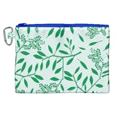 Leaves Foliage Green Wallpaper Canvas Cosmetic Bag (xl) by Celenk