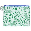 Leaves Foliage Green Wallpaper Canvas Cosmetic Bag (XXL) View1