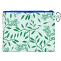 Leaves Foliage Green Wallpaper Canvas Cosmetic Bag (XXL) View2