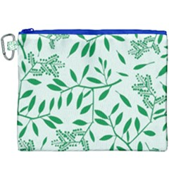 Leaves Foliage Green Wallpaper Canvas Cosmetic Bag (xxxl) by Celenk