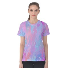 Space Psychedelic Colorful Color Women s Cotton Tee