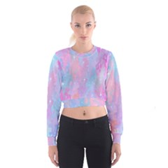 Space Psychedelic Colorful Color Cropped Sweatshirt