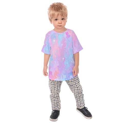 Space Psychedelic Colorful Color Kids Raglan Tee by Celenk