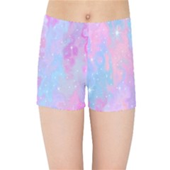 Space Psychedelic Colorful Color Kids Sports Shorts by Celenk