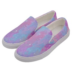 Space Psychedelic Colorful Color Men s Canvas Slip Ons by Celenk