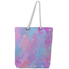Space Psychedelic Colorful Color Full Print Rope Handle Tote (large)