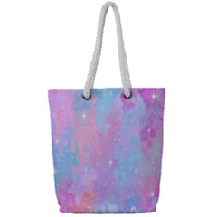 Space Psychedelic Colorful Color Full Print Rope Handle Bag (small) by Celenk