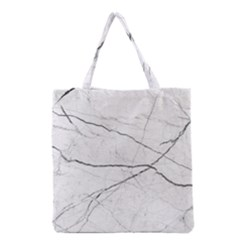 White Background Pattern Tile Grocery Tote Bag