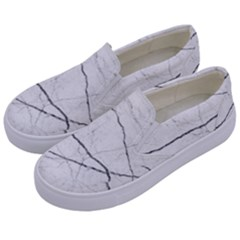 White Background Pattern Tile Kids  Canvas Slip Ons by Celenk