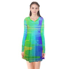 Colors Rainbow Chakras Style Flare Dress