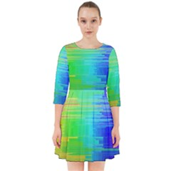 Colors Rainbow Chakras Style Smock Dress by Celenk