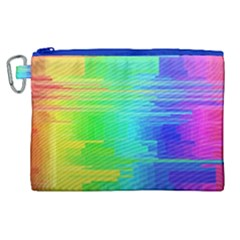 Colors Rainbow Chakras Style Canvas Cosmetic Bag (xl) by Celenk