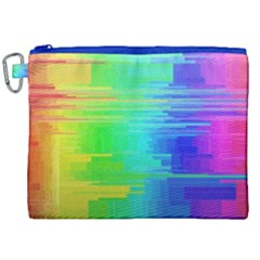 Colors Rainbow Chakras Style Canvas Cosmetic Bag (xxl) by Celenk