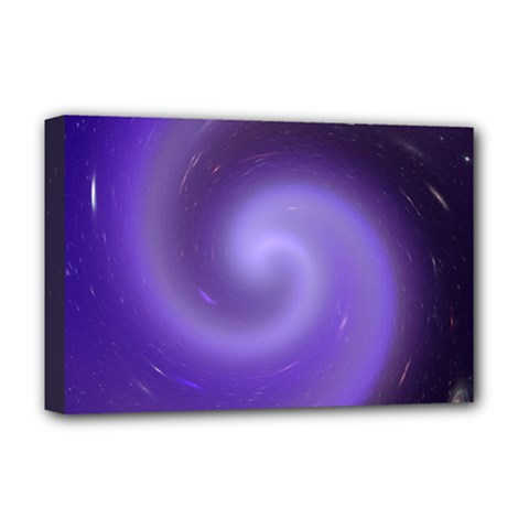 Spiral Lighting Color Nuances Deluxe Canvas 18  X 12   by Celenk