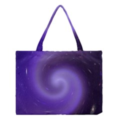 Spiral Lighting Color Nuances Medium Tote Bag by Celenk