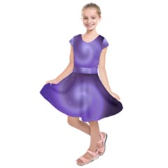 Spiral Lighting Color Nuances Kids  Short Sleeve Dress by Celenk