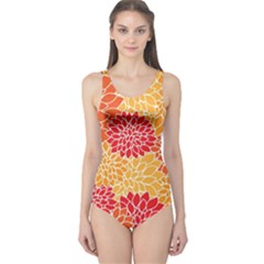 Abstract Art Background Colorful One Piece Swimsuit