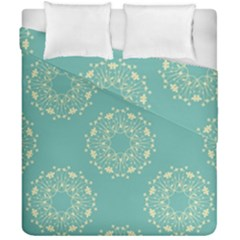 Floral Vintage Royal Frame Pattern Duvet Cover Double Side (california King Size) by Celenk