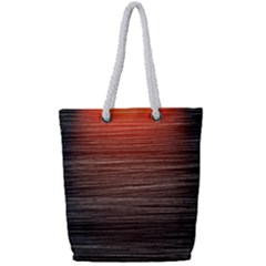 Background Red Orange Modern Full Print Rope Handle Bag (small)