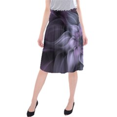 Fractal Flower Lavender Art Midi Beach Skirt