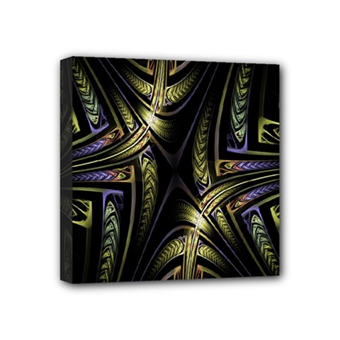 Fractal Braids Texture Pattern Mini Canvas 4  X 4  by Celenk